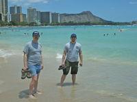 John & Justin at Waikiki Beach